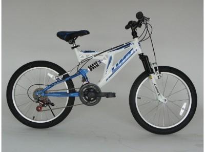 Mountainbike Umit Blackmount 20 inch MTB Wit/Blauw