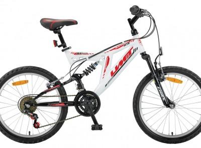 Mountainbike Umit Blackmount 20 inch MTB Wit/Rood