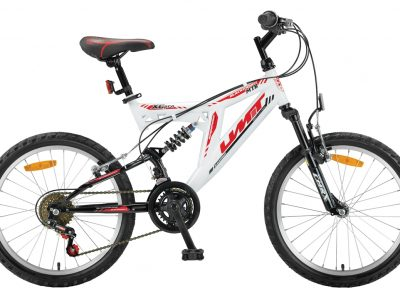 Mountainbike Umit Blackmount 20 inch MTB Wit/Rood