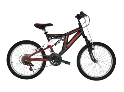 Mountainbike Umit Blackmount 20 inch MTB Rood/Zwart