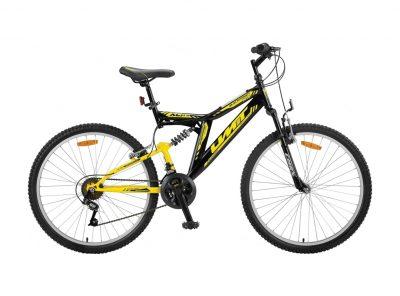 Mountainbike Umit Blackmount 20 inch MTB Zwart/Geel