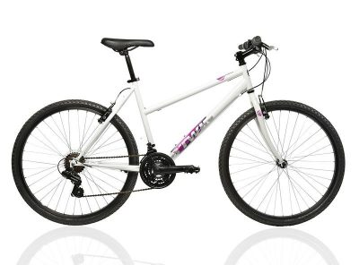 MOUNTAINBIKE ROCKRIDER 300 dames wit S : 1M50-1M65