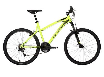 MOUNTAINBIKE ROCKRIDER 340 GEEL M : 1M65-1M75