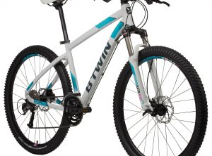 "B'twin MTB Rockrider 540 dames wit 27.5"" M : 1M65-1M75"