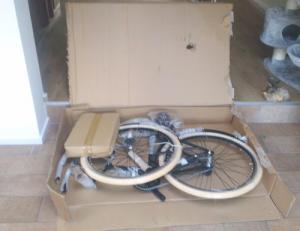 mountainbike assemblage stap 2